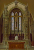 21st Apr 2018:  The west window in the church in Amblethorpe Abbey