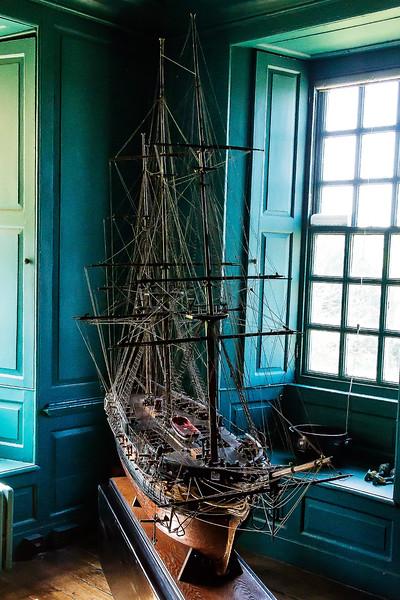 16th Apr 2015:  Beautiful Warship Model at Snowshill Manior collected by Charles Wade