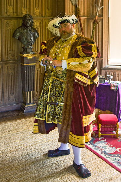 27th May 12:  Henry VIII in the Long Room at The Vyne