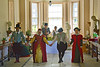 27th May 12:  The Tudor dancers take a bow in the Orangery at The Vyne