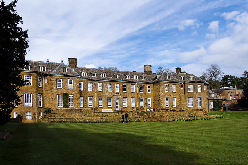 8th Apr 2016:  The front of Upton House from the garden
