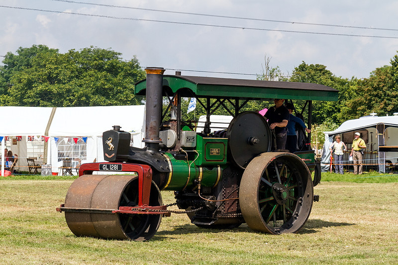 22nd JUn 14:  Built in 1934 was GL1281 Aveling & Porter road roller seen here at the Semington Vintage Ralley