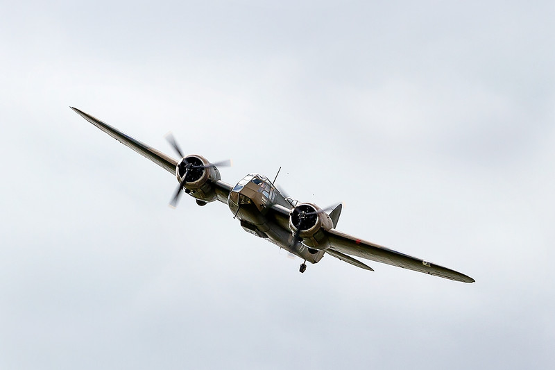 15th Aug 2015:  Finally restored in 2015 the worlds only flying Blenheim WW2 Bomber is pictured flying over Beachey Head during the anual Eastbourne Air Show