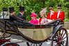 21st Jun 2019:  The Queen going to the Ascot Races is being driven up Watersplash Lane  on the approach to Ascot Race Course