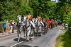 21st Jun 2019:  With the Queen's carriage leading the Royal Parties are  travelling along Watersplash Lane as the make to Ascot for a day at the races.