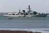 4th Jun 2015:  Frigate F238  HMS Northumberland outside Cowes Harbour