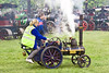 19th May 12:  A 4inch replica of a Dodman of Lynn traction engine parading at the Castle Combe Steam Ralley