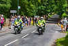 21st Jun 2019:  Two out riders checking that Watersplash Lane clear for the Royal Carriages to travel to the Ascot Races