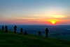 11th Apr 2019:  A sun set too good to miss from the Westbury White Horse brings out the cameras