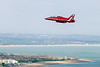 15th Aug 2015:  Red Arrows Hawk XX177 streaks inland over Eastbourne during it's sole roll