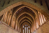 4th Jun 2015:  The unusual brick roof trussed in Quarr Abbey