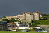20th May 14:  Under a very black sky Dieppe's  'Castle Royale' catches the moning sun