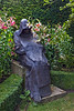 7th Aug 10:  Old Monk statue in Abbey House garden at Malmsbury