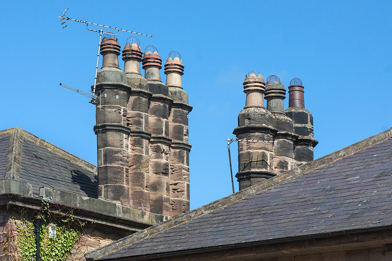 5th May 13:  Nice chimneys shame about the ariels.  Ripley North Yorkshire
