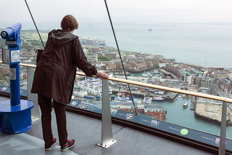 4th Jul 13:  Joy looking out to Old Portsmouth