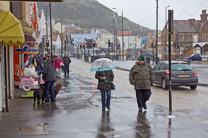 25th Apr 12:  A very wet Scarborough
