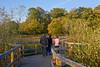 13th Nov 11:  G L & J on the wetland bridge