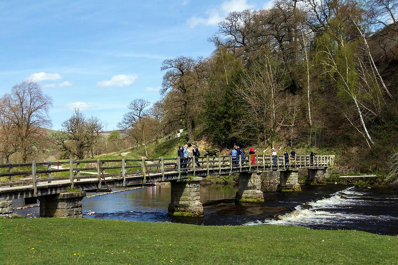 4th May 2016:  Foot bridge over the River Wharfe at Bo;ton Abbey