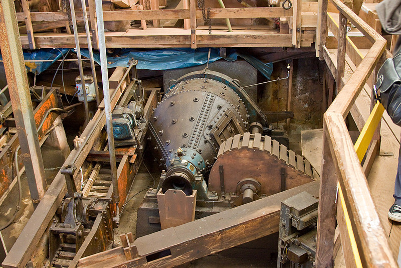 7th Sep 10: An ore crushing plant in Geevor tin mine