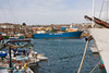14th Sep 12:  The Isles of Scilly supply ship 'Gry Maritha' loads within Penzance Harbour