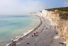 9th Aug 12:  Looking towards Seaford Head from the Birling Gap as the Sea Fret moves in
