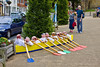 4th Jun 12:  To celebrate the Olympics businesses and groups have made Scarecrows to illustrate the various events.  Here is a rowing eight.  There were much appreciate by the town's many visitors