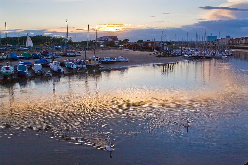 3dr Jul 07:  Harbour sunset at Littlehampton
