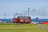 Giving tourist rides is a steam coach in Whitby