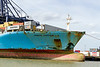 19th Jul 2015:  The rather rusty bow of Maersk  Kampala