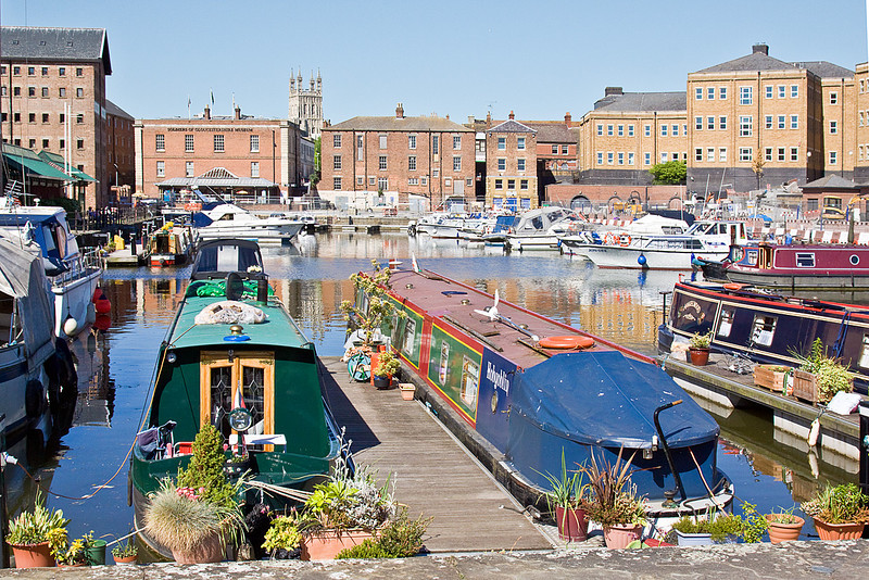 23rd May 10:  The Victoria Dock.  The Gloucester Regiment Museum is in the background