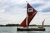 19th Jul 2015:  The sailing barge 'Victor' giving tourist rides on the River Orwell