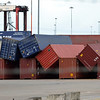 Southampton Container Docks - After high winds!