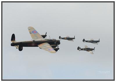 Two Lancasters / Battle of Britian Flight