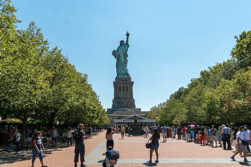Die Rückansicht der Freiheitsstatue - New York City, NY - USA