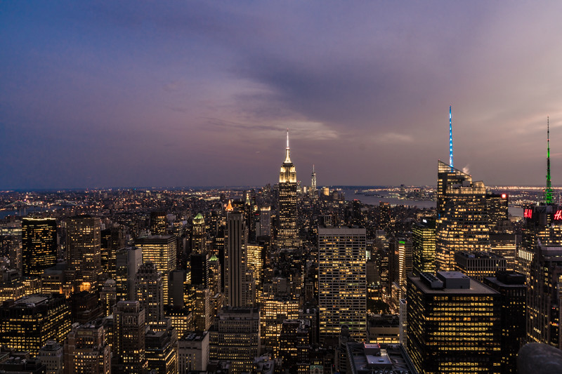 Lichtermeer von Manhatten - New York City, NY - USA