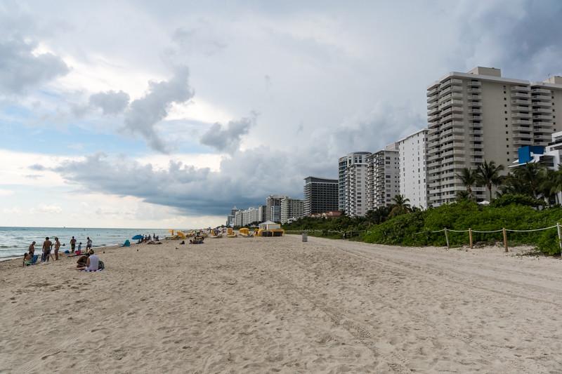 Der Strand vor dem Apartement - Miami, FL - USA