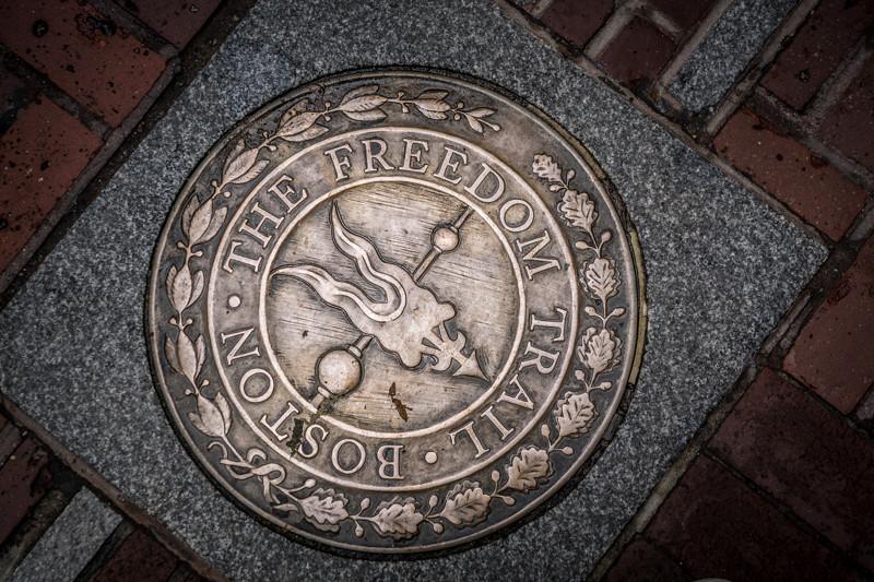 Wegzeichnung Freedom Trail - Boston, MA - USA