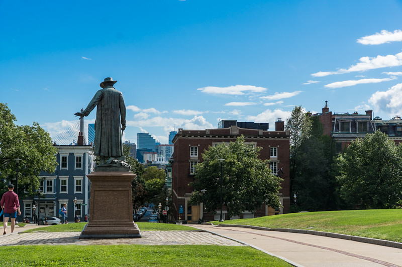 Statue von Col. William Prescott - Charlestown, MA - USA