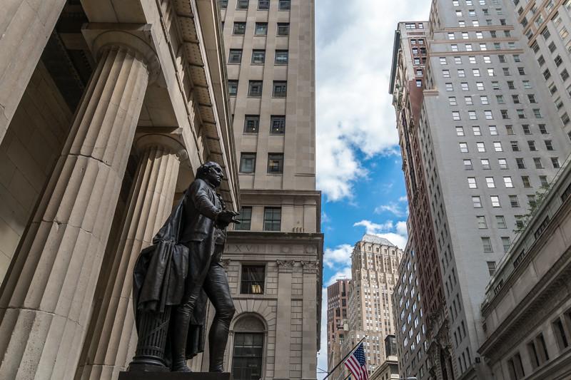 Bronzestatue von George Washington - New York City, NY - USA