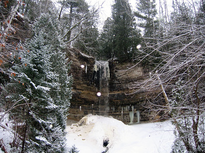 Munising Falls in Winter