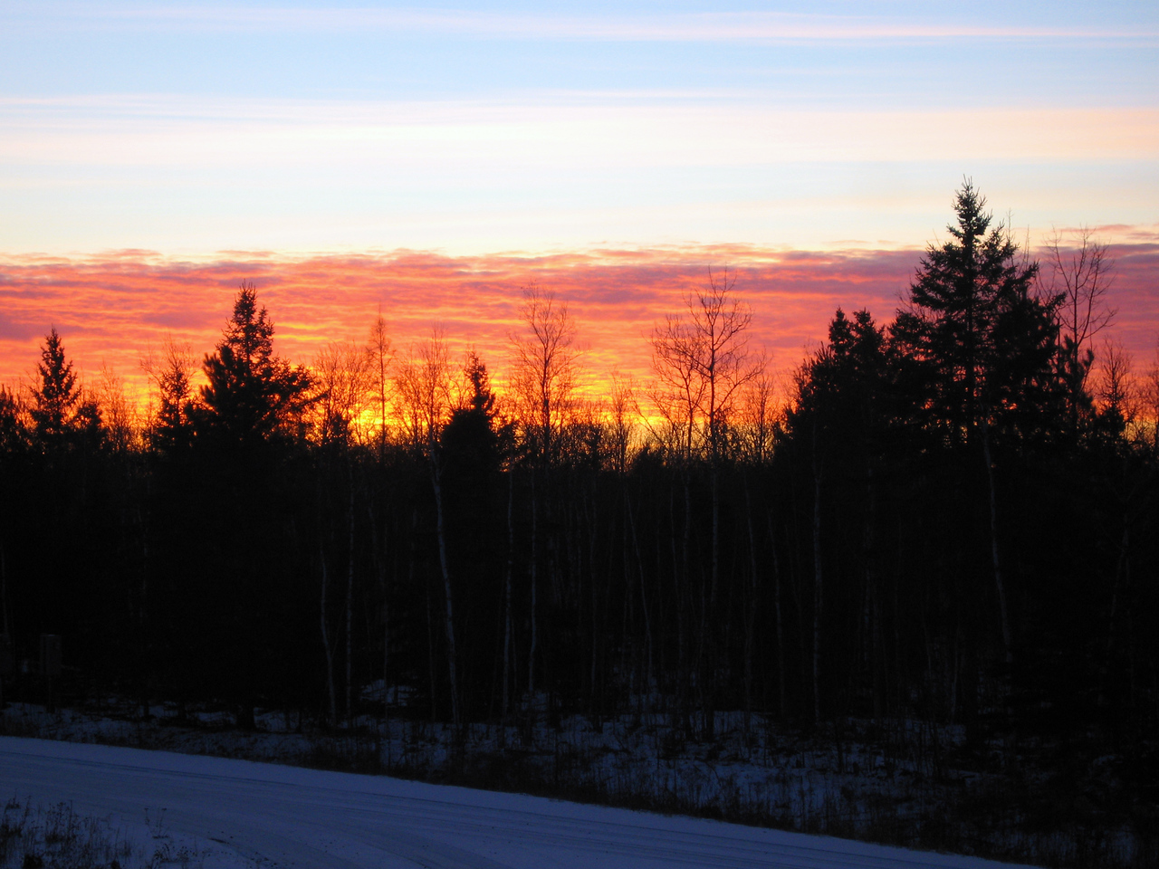 Northwoods Sky on Fire