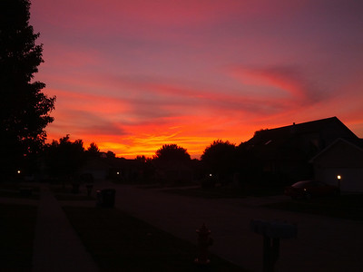 Fiery Urbana Sunset