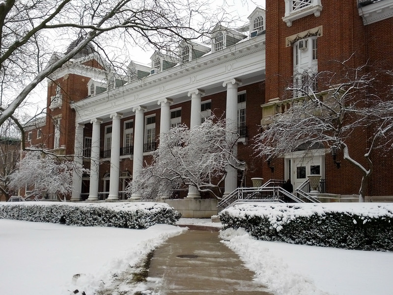 English Building in Winter