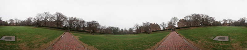 Sunken Gardens Panorama on a Cloudy Day