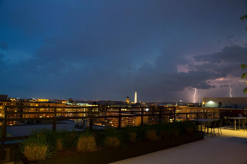 City Lights and Lightning Strikes