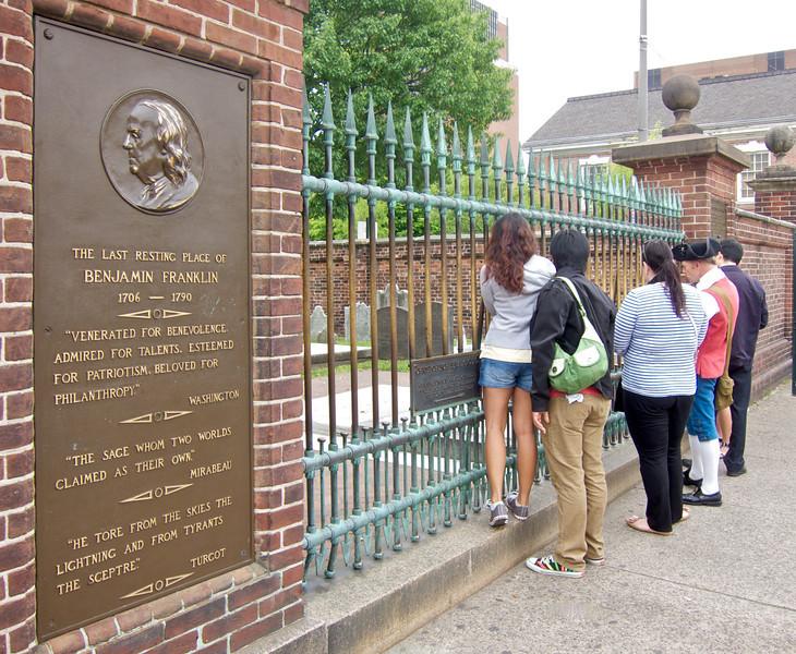 Benjamin Franklin's Grave, Christ Church Burial Ground, Philadelphia, Pennsylvania
