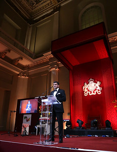 British Asian Trust Dinner. Banqueting House. White Hall Palace. Whitehall.  3rd February 2015  Photo: James O Jenkins