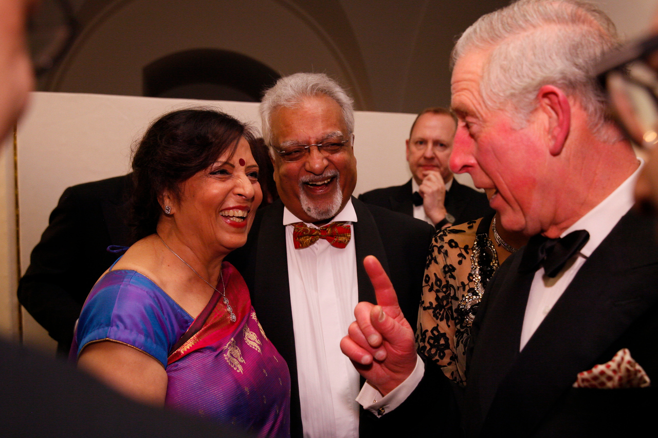 British Asian Trust Dinner.  3rd February 2015 Banqueting House, Whitehall Palace, Whitehall.  Photo by Zute Lightfoot / Campfire Creative