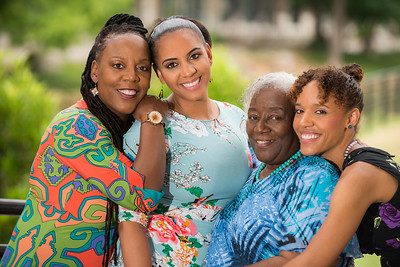 Glenis Redmond's family—Peace Center Poet in Residence