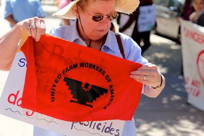 Californians for Pesticide Reform rally at the CalEPA building on July 12, 2016